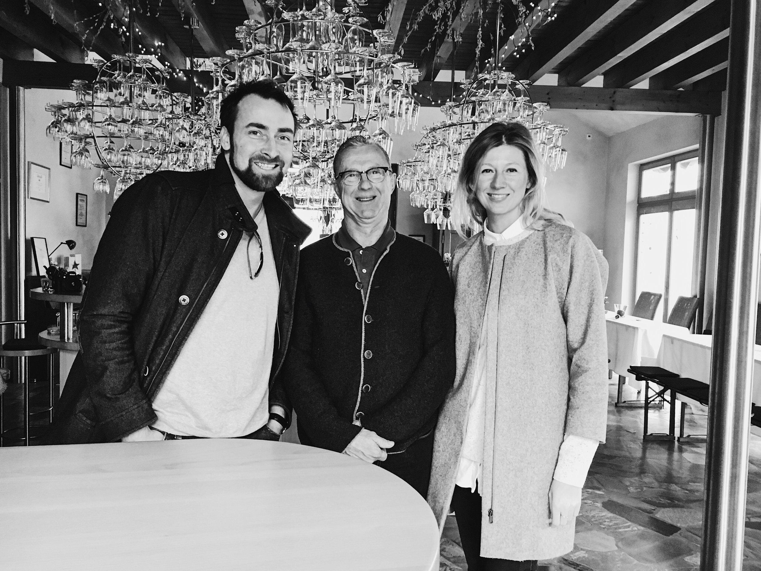 This photo with winemaker Peter Jakob Kühn was made in his tasting room in Oestrich-Winkel/Rheingau.