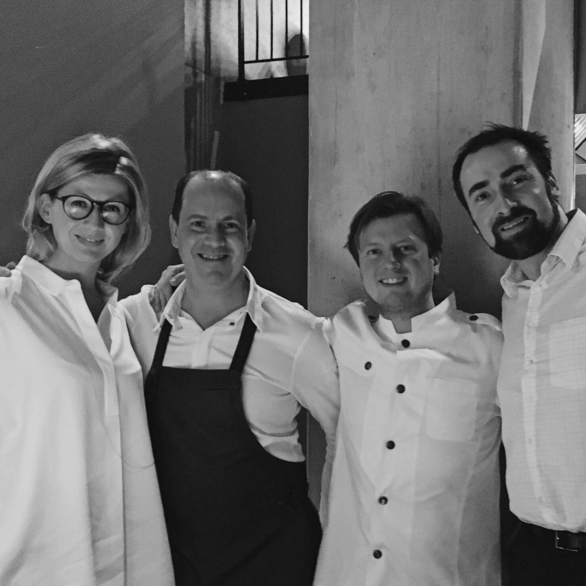 """Great evening with awesome food and fantastic wine recommendation at """"The Table"""" in Hamburg with Kevin Fehling and David Eitel."""