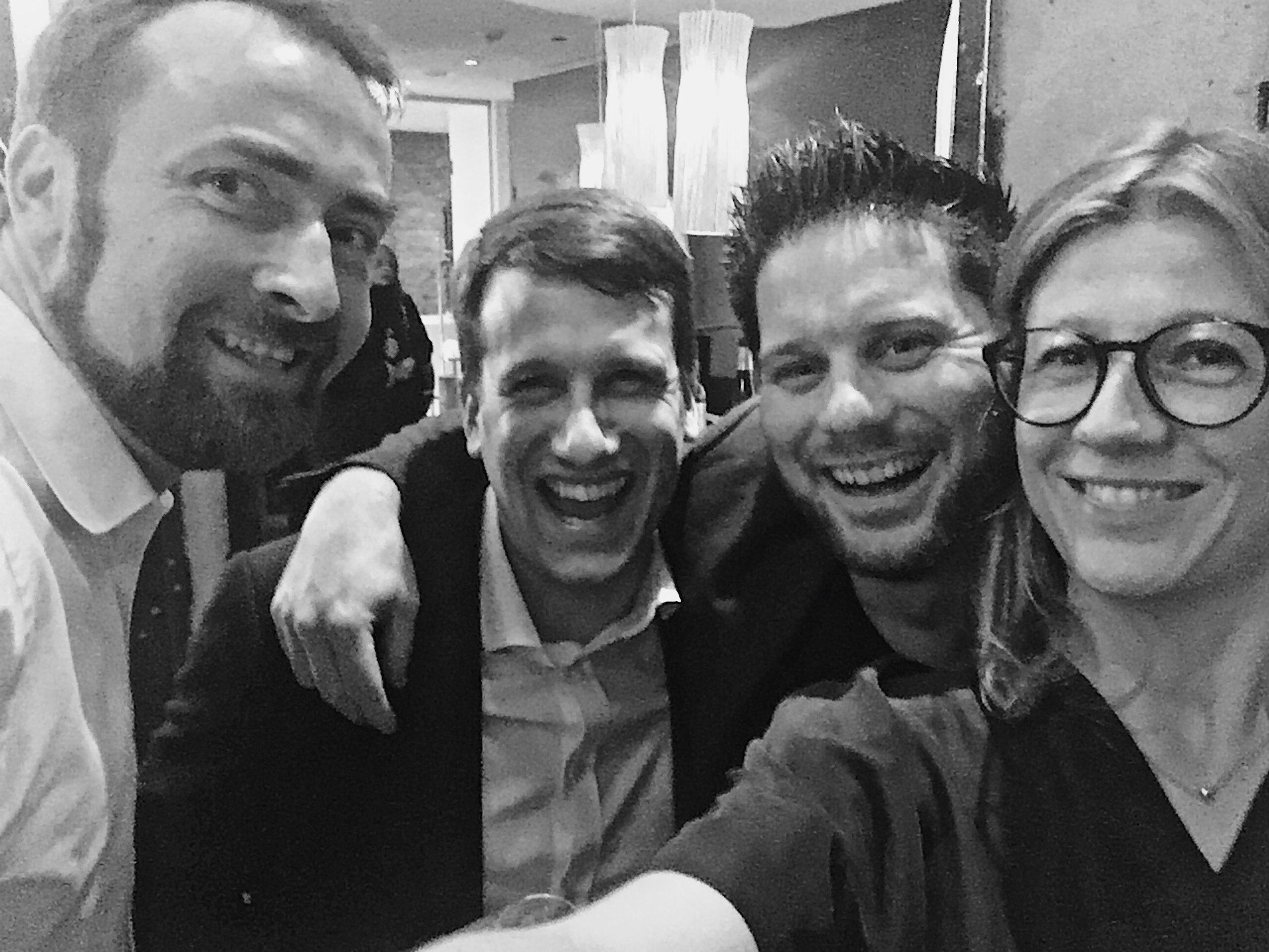 Meeting Tobias Fricke from Gut Hermannsberg and sommelier Emmanuel Rosier at the Riesling Swag in Hamburg.