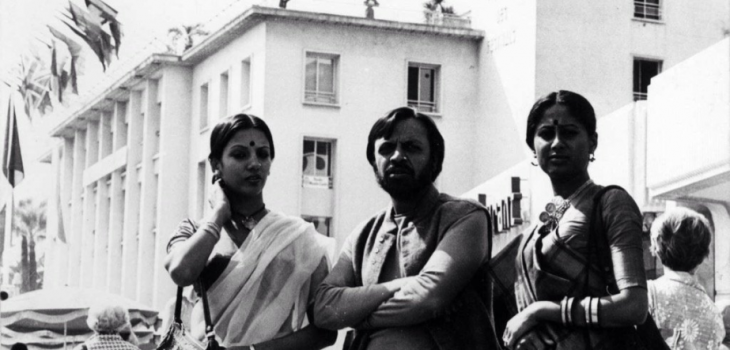 Shabana Azmi, Shyam Benegal and Smita Patil in Cannes, 1976