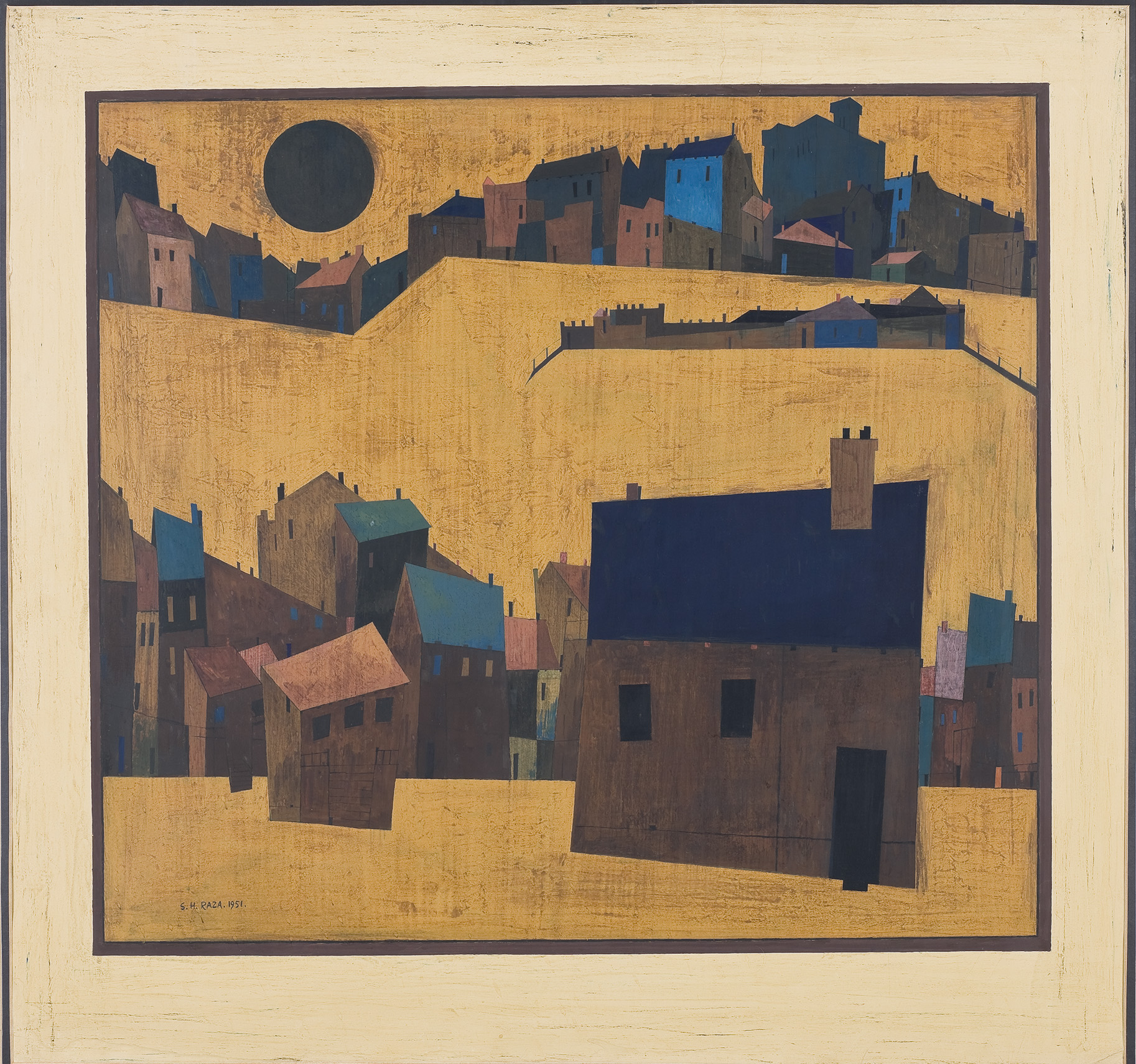 Haut de Cagnes (1951), S. H. Raza. Courtesy of the Darashaw Collection.