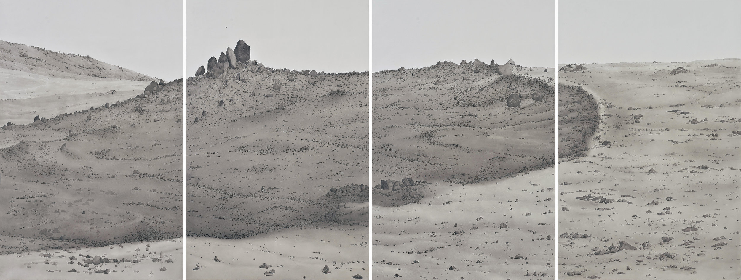 Ali Kazim,  Untitled  (Ruins Series), 2014-15. Watercolour pigment on paper. Courtesy of the APT9. Collection of the Kiran Nadar Museum of Art.