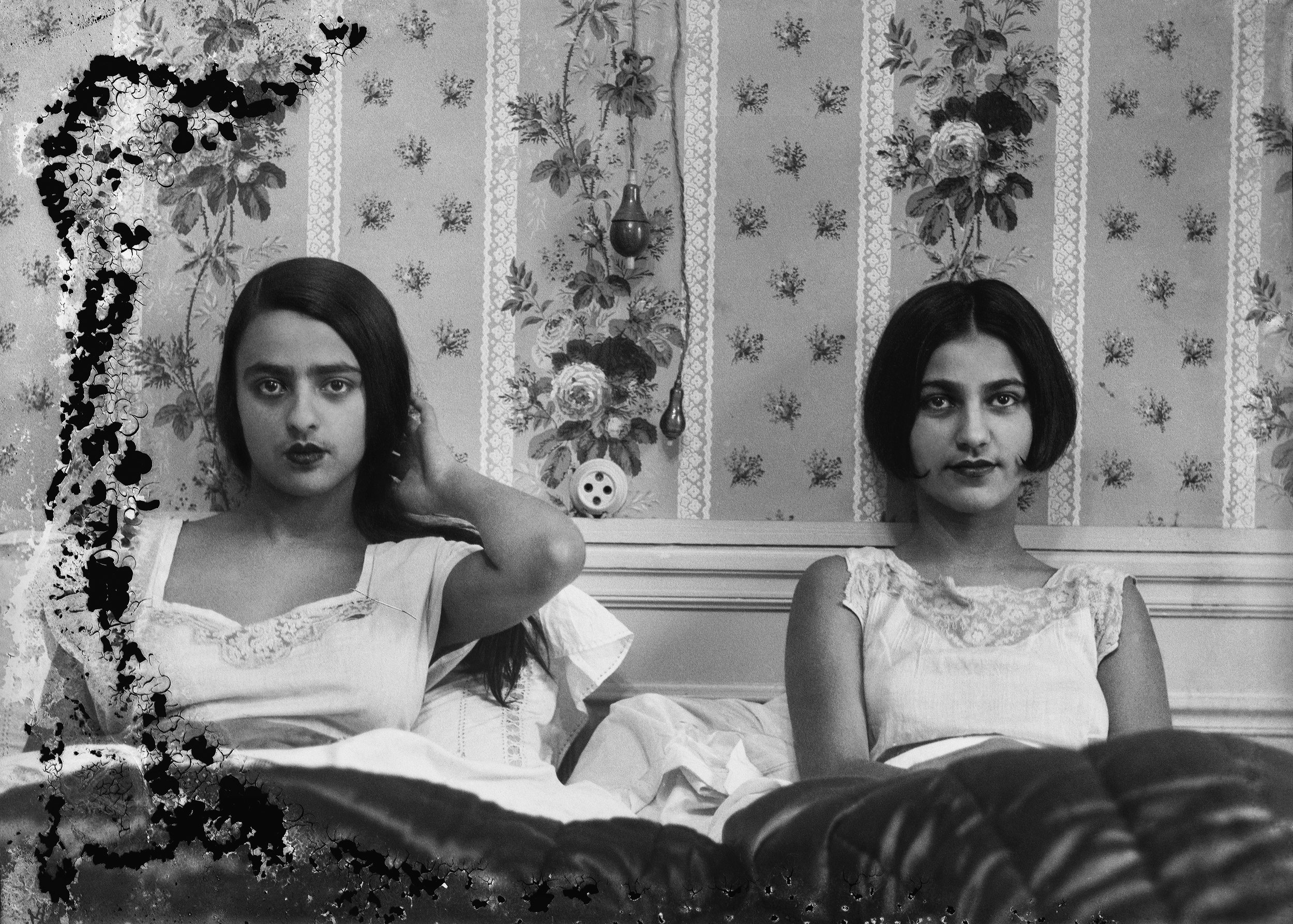 Umrao Singh Sher-Gil,  Sisters in bed , c. 1932, Courtesy of PHOTOINK