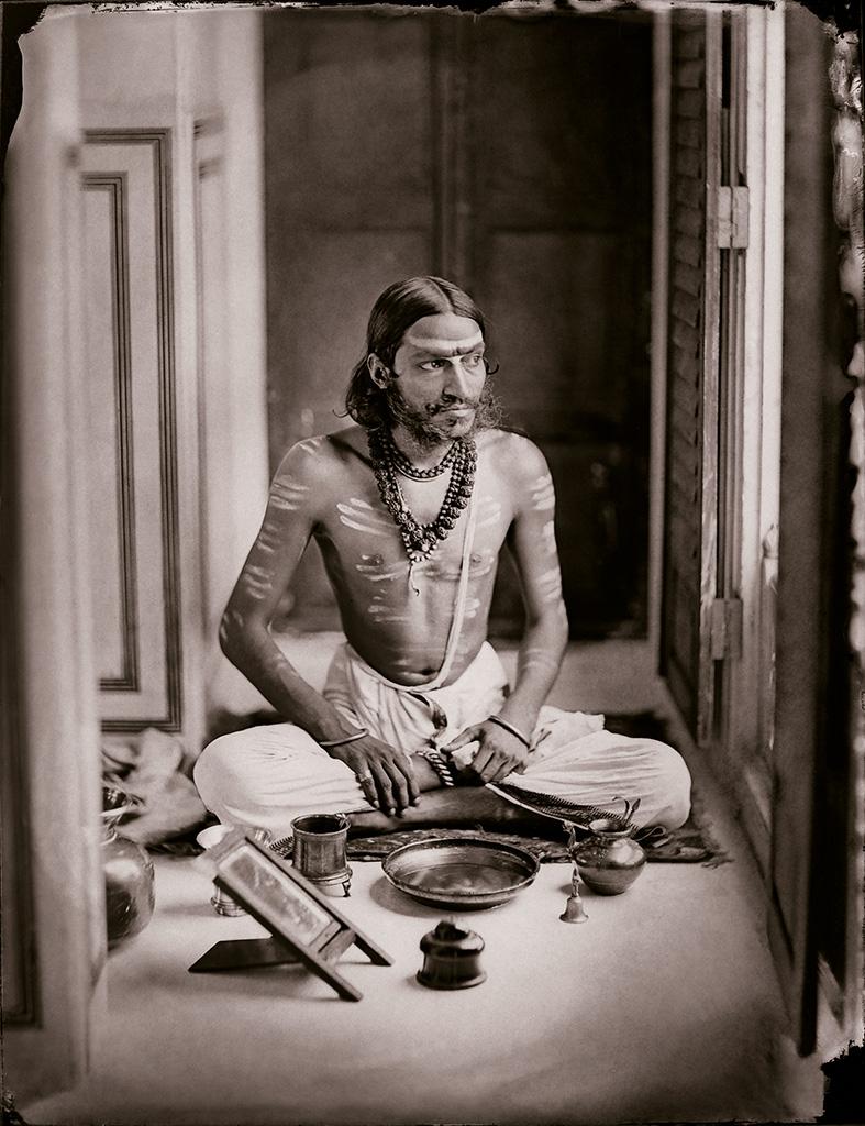 Maharaja Sawai Ram Singh II,  Self-portrait as a Shiva bhakt , c. 1870, Maharaja Sawai Man Singh II Museum Trust