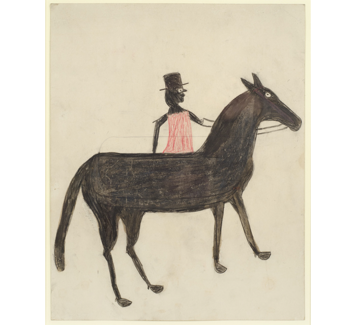 Bill-Traylor-Black-Horse-Red-Rider-1939-1942.png