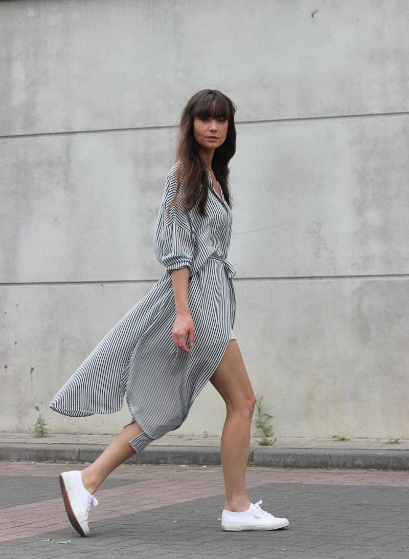 Massimo Dutti silk dress - Zara shorts - Superga sneakers 7.png