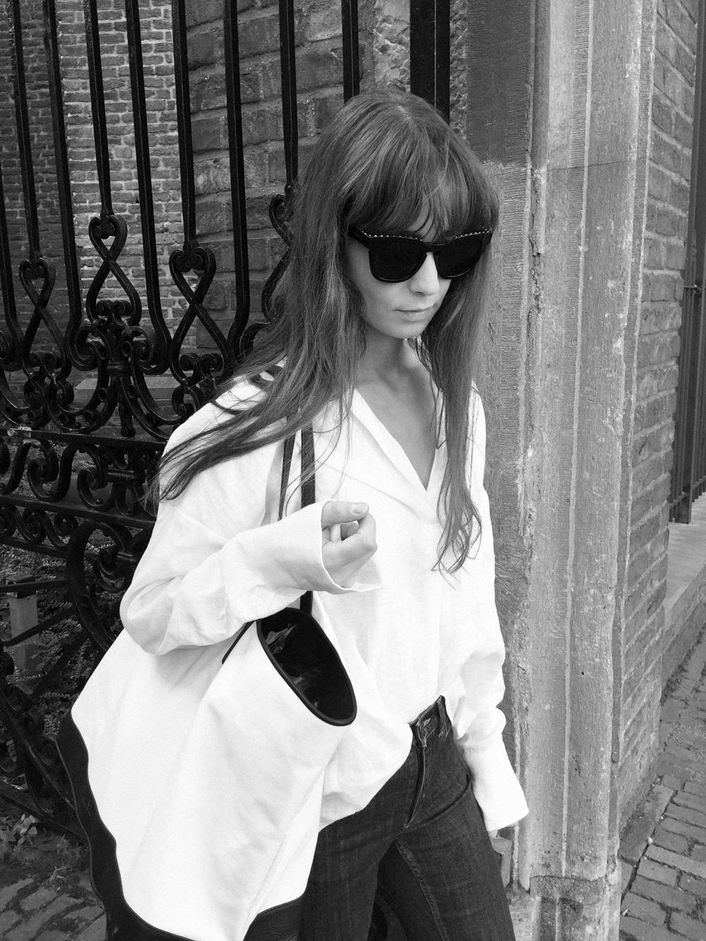 Givenchy sunnies - Zara shirt - COS denim - Haus of Mana bag - Gucci Loafer.png