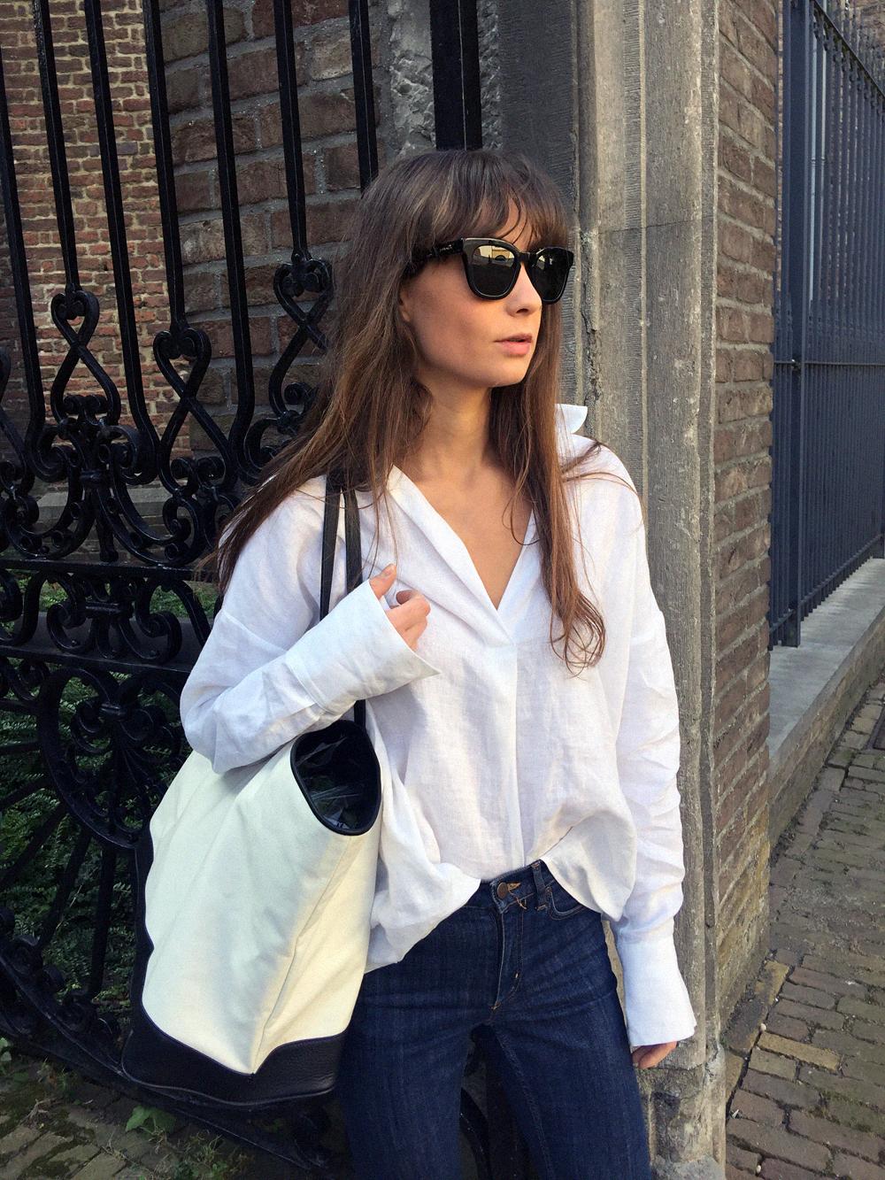 Givenchy sunnies - Zara shirt - COS denim - Haus of Mana bag - Gucci Loafer. 3.png
