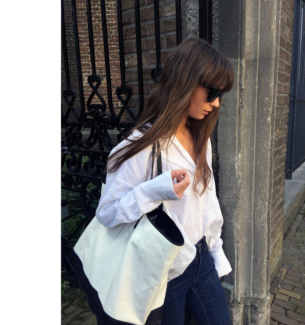 Givenchy sunnies - Zara shirt - COS denim - Haus of Mana bag - Gucci Loafer. 6.png