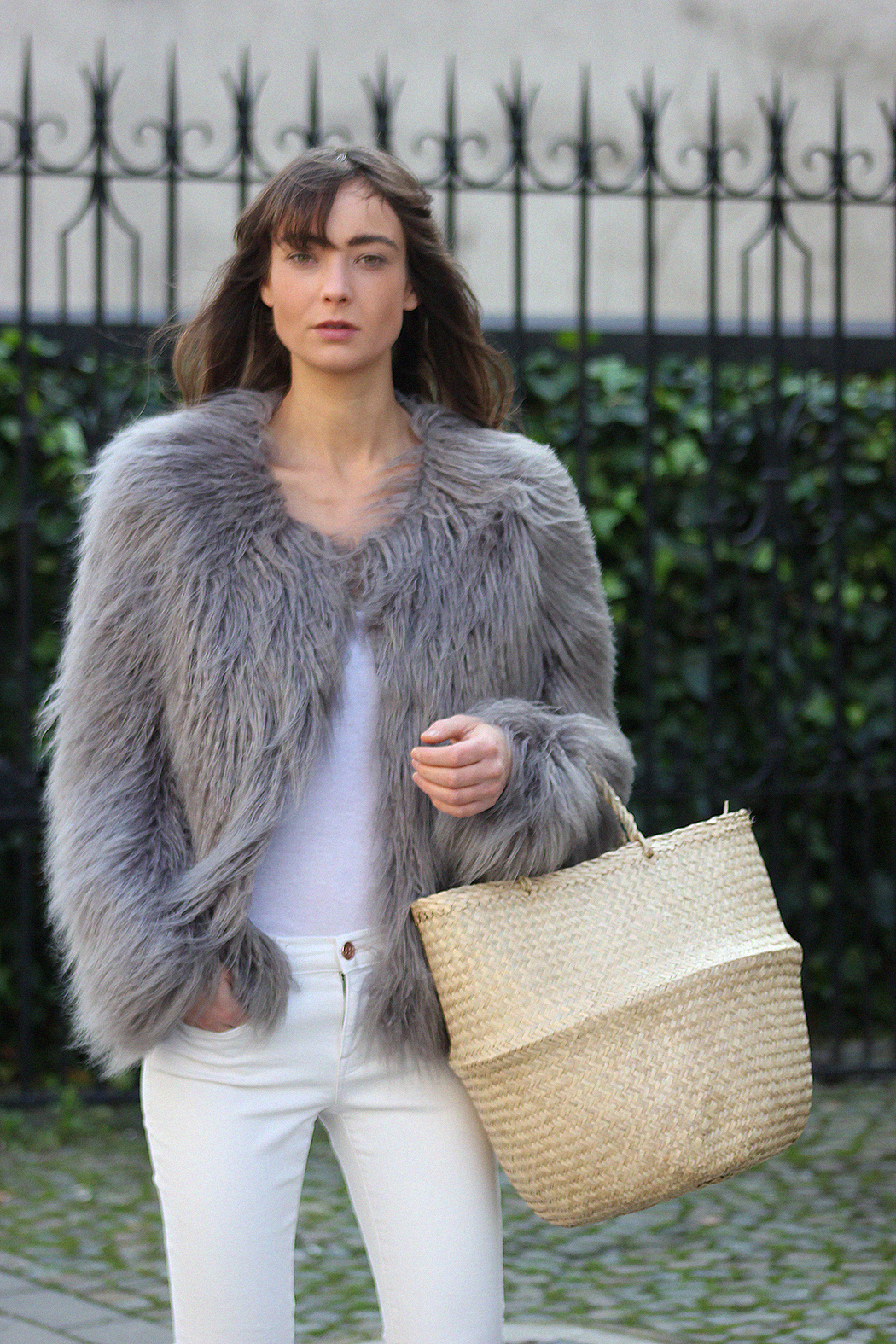 Unreal Fur coat, Zara top, AYR denim, Gucci loafers - Modedamour 5.png