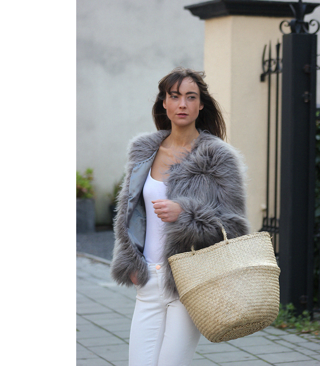 Unreal Fur coat, Zara top, AYR denim, Gucci loafers - Modedamour 6.png