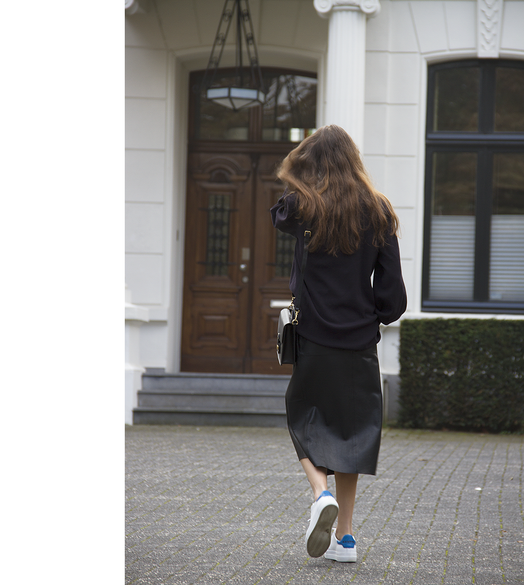 Cos sweater, Maje leather wrap skirt, Axel Arigato sneakers, Ralph Lauren bag 9.png