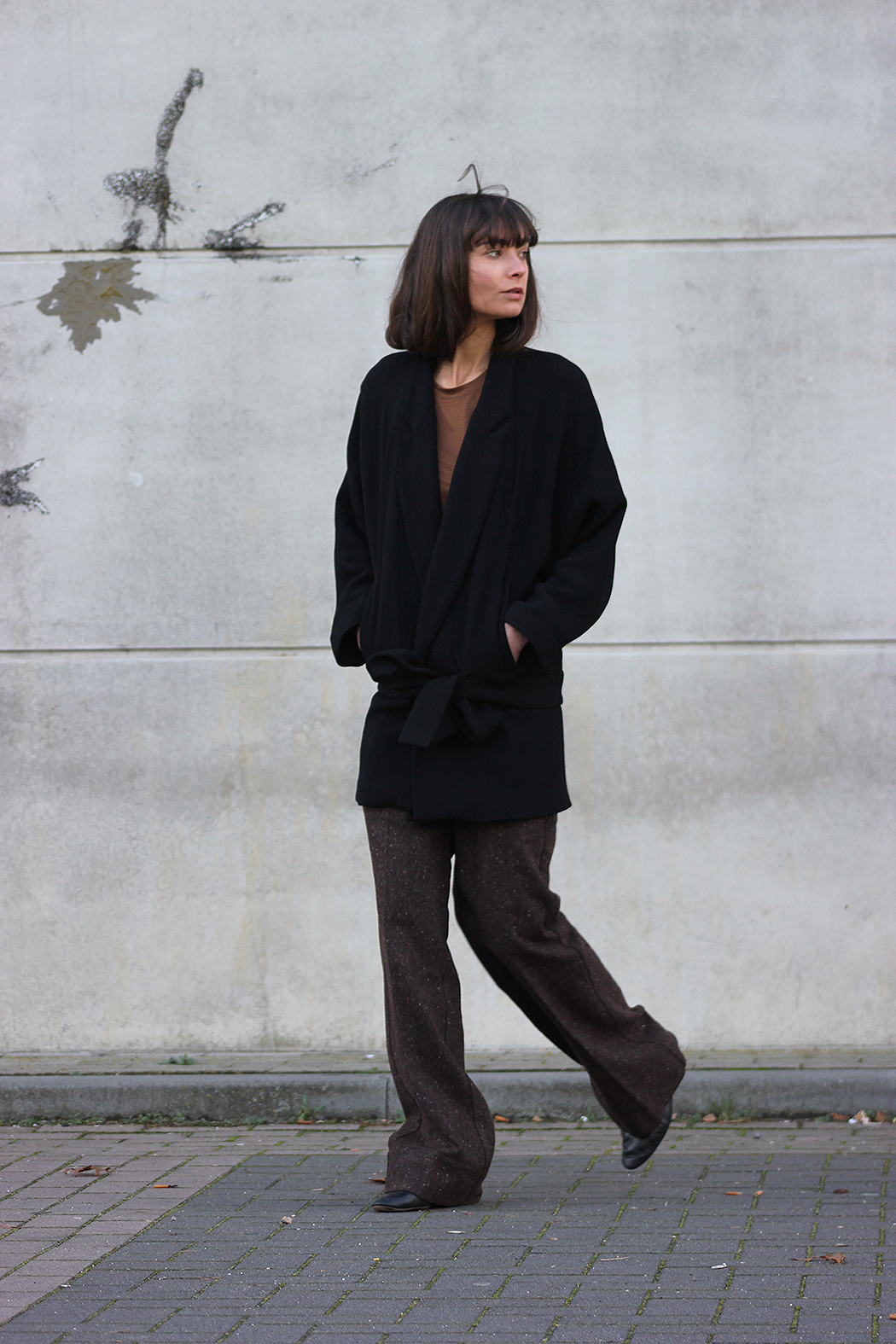 Zara coat, AYR trousers, Massimo Dutto flats.png