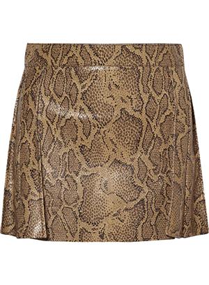 Chloe Snake-effect leather mini skirt.png