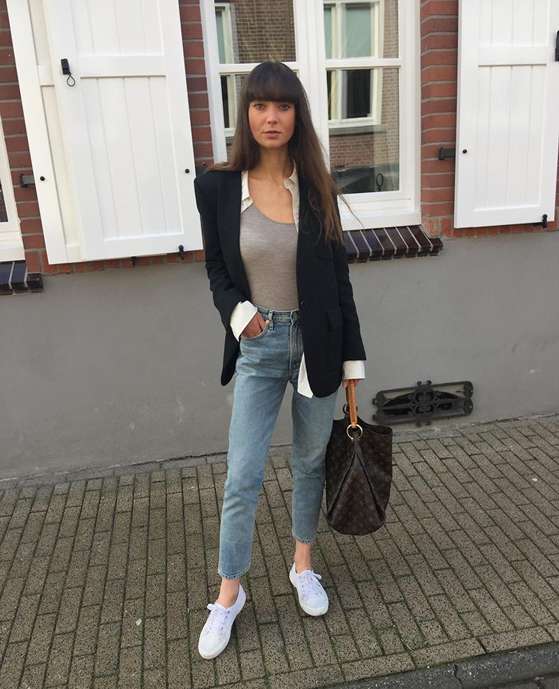 By Malene Birger blazer, COS shirt, Ralph Lauren top, CoH jeans, Superga sneaker, Louis Vuitton bag.png