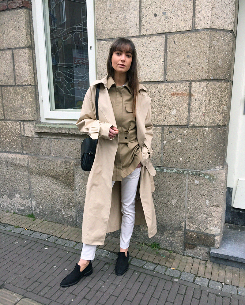 HM Coat, By Malene Birger jacket and shirt, Ralph Lauren denim, Wicker Wings bag, COS loafers .png