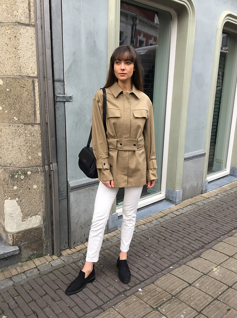 HM Coat, By Malene Birger jacket and shirt, Ralph Lauren denim, Wicker Wings bag, COS loafers 8.png