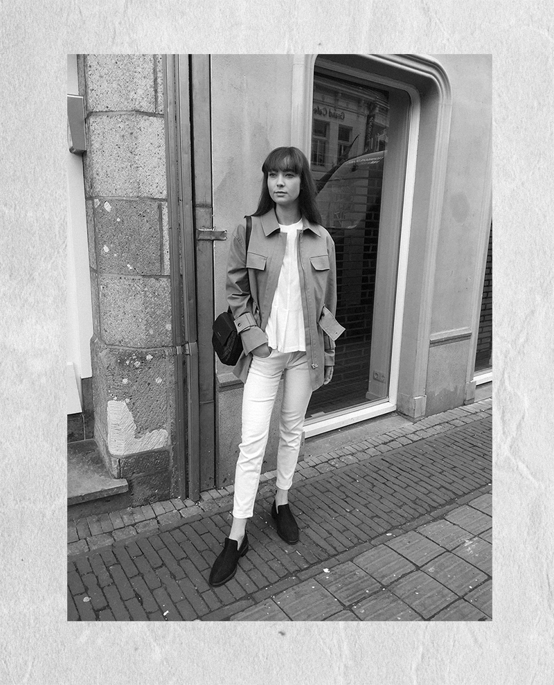 HM Coat, By Malene Birger jacket and shirt, Ralph Lauren denim, Wicker Wings bag, COS loafers 9.png