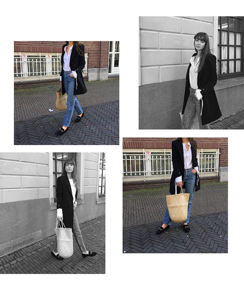 Mango blazer and shirt, Vintage Levis, Gucci loafer 3.png
