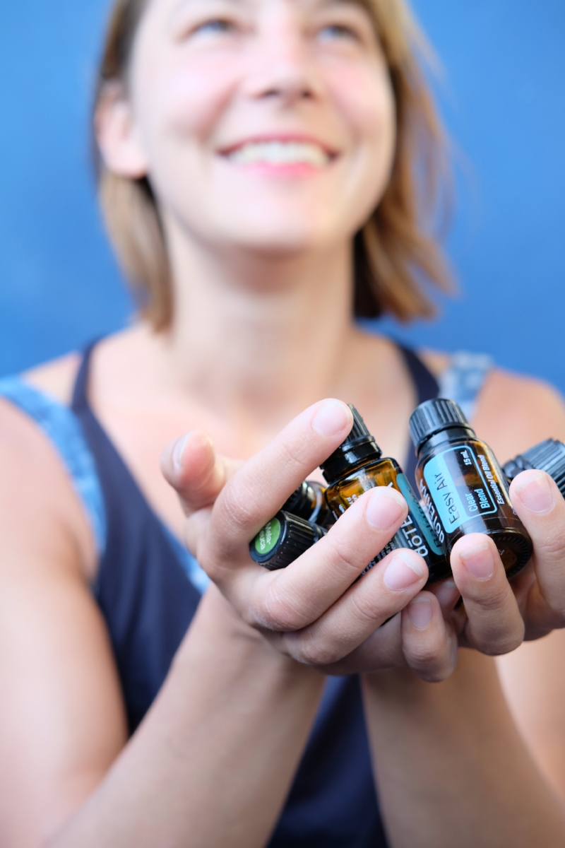 Hands essential oils
