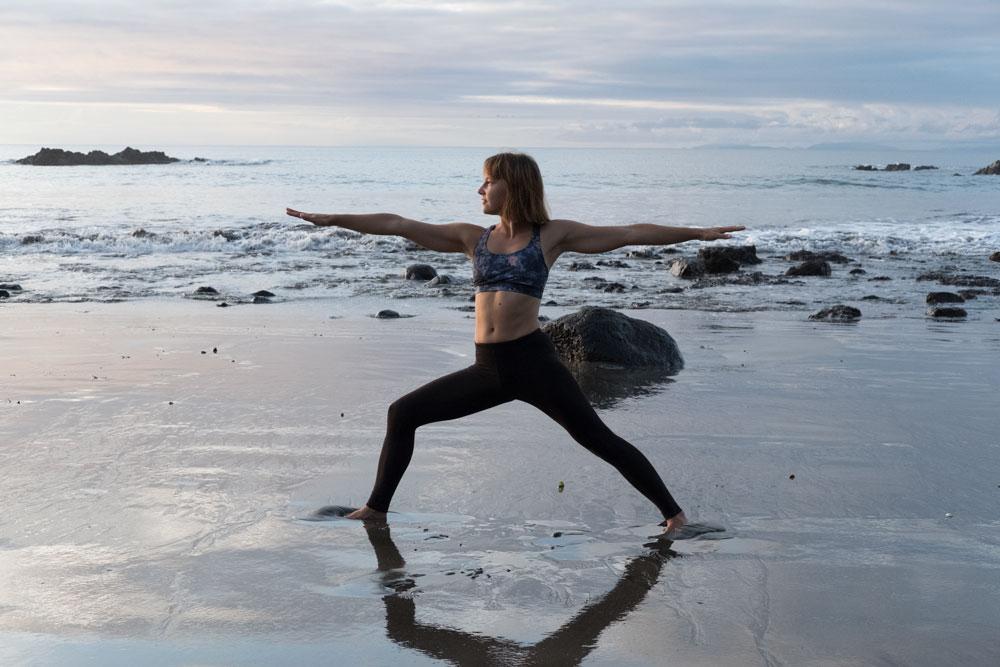 yoga girl beach