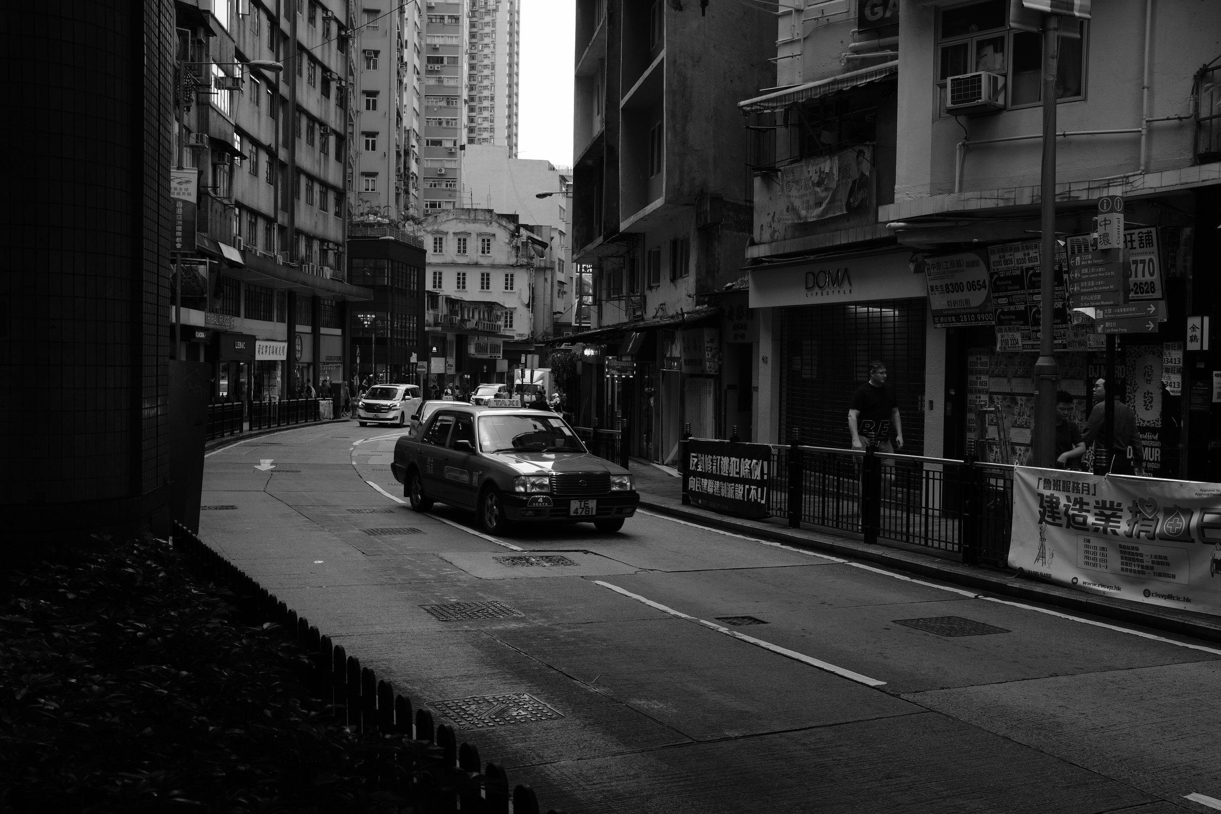A signature Hong Kong Taxi