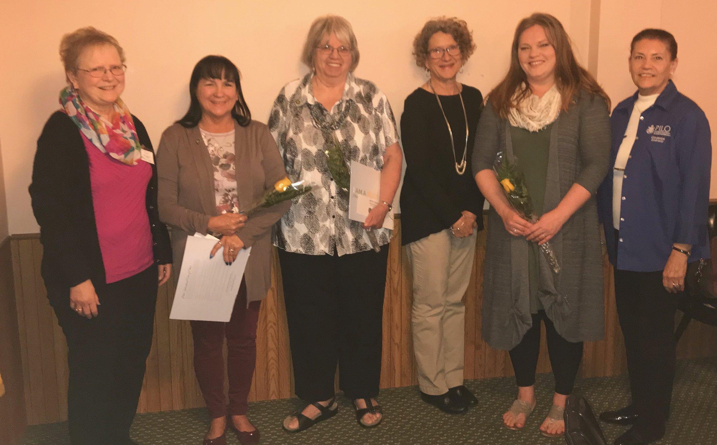 Joyce Fry sponsored Dee Krier, Billie Bonomo sponsored by Sally O'Connor and Nicci Henderson sponsored by Renee Johnson