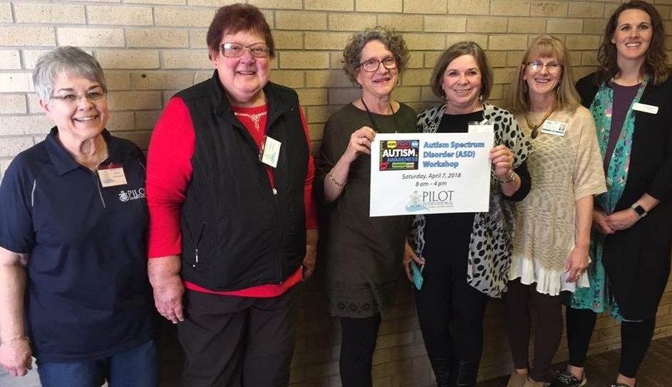 Members of the Autism Workshop Committee include Betty Schneider, Marcia Johnson, Sally O'Connor, Janice Walker, Ros Neeland and Hather Quillin. Allyson Burkhart is not pictured.
