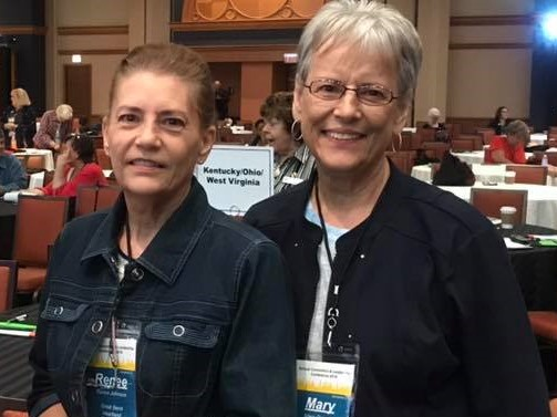 Renee Johnson (Leadership  Coordinator)  and Mary Cramer (Recording Secretary) attended the Pilot  International Convention in Chicago and also participated in the Cradles to Crayons Project.