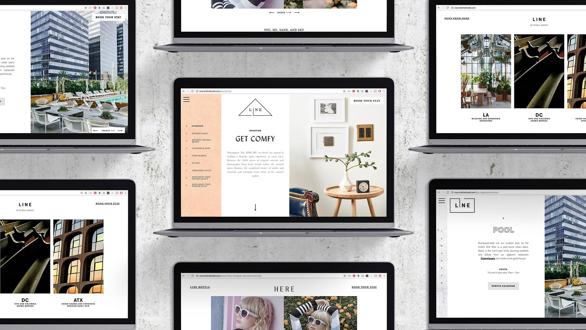 The Line Hotel Desktop Website