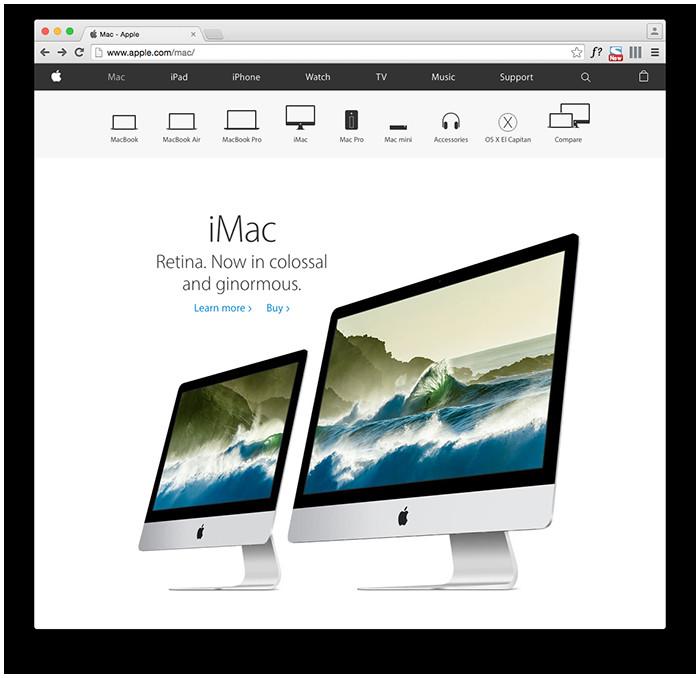 Foto - Il branding applicato al sito di Apple. Pulito, semplice, diretto e ottimizzato per la fruizione da device mobile. Viene voglia di fare acquisti.