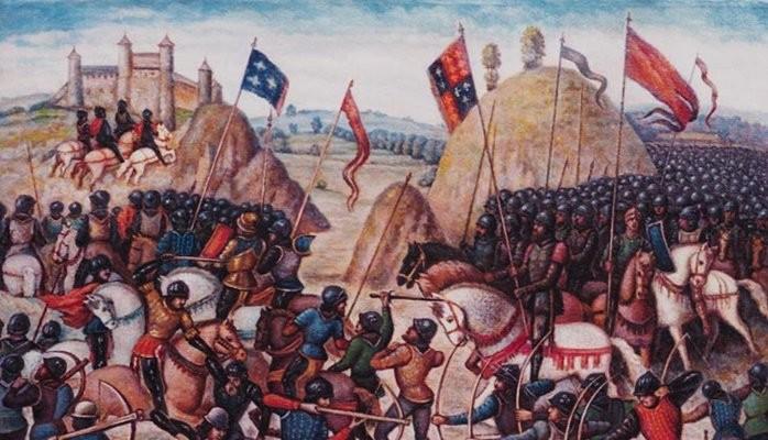 Le bandiere araldiche sventolate quasi 700 anni fa sui campi di Crécy