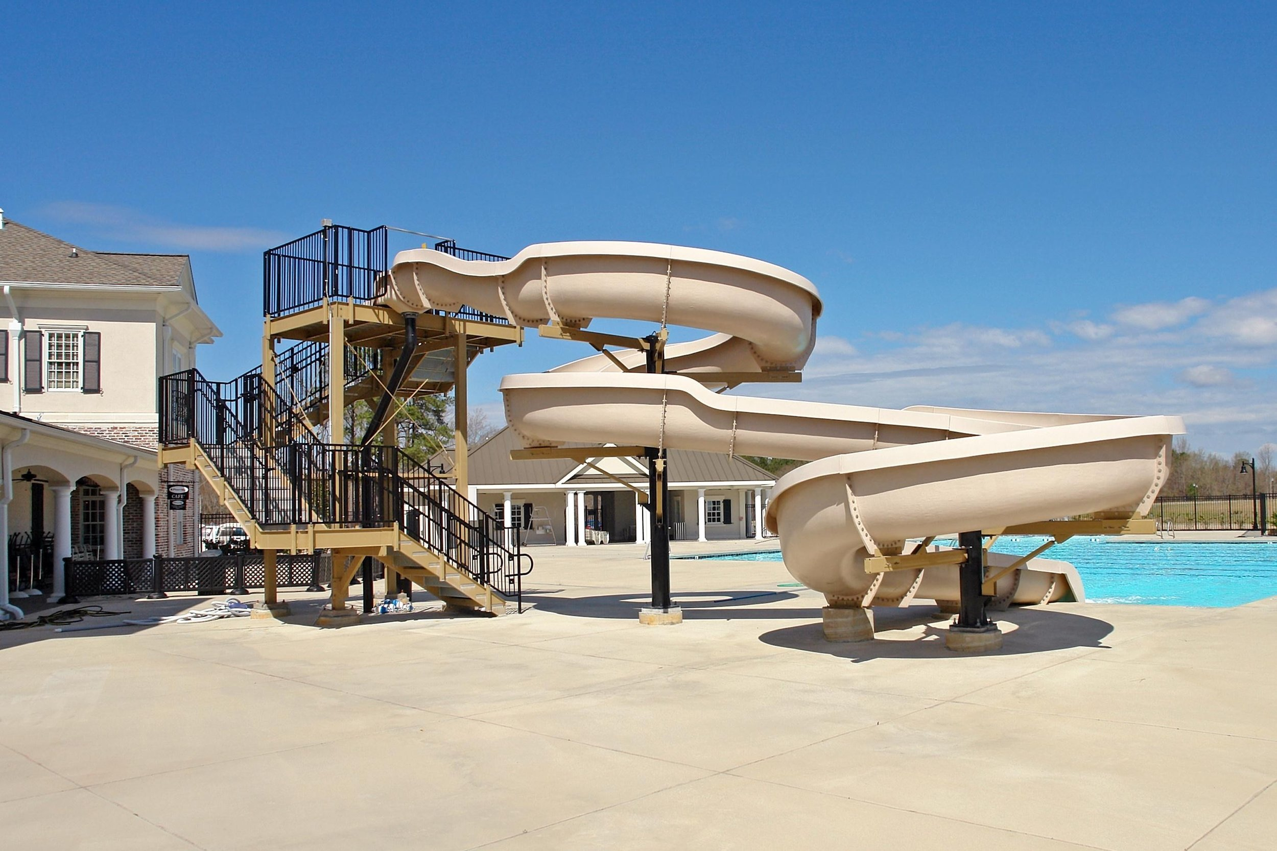 Outdoor Pool and Water Slide