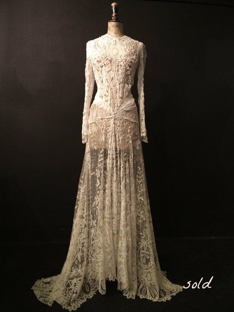 Stunningly Beautiful Antique Lace Dress