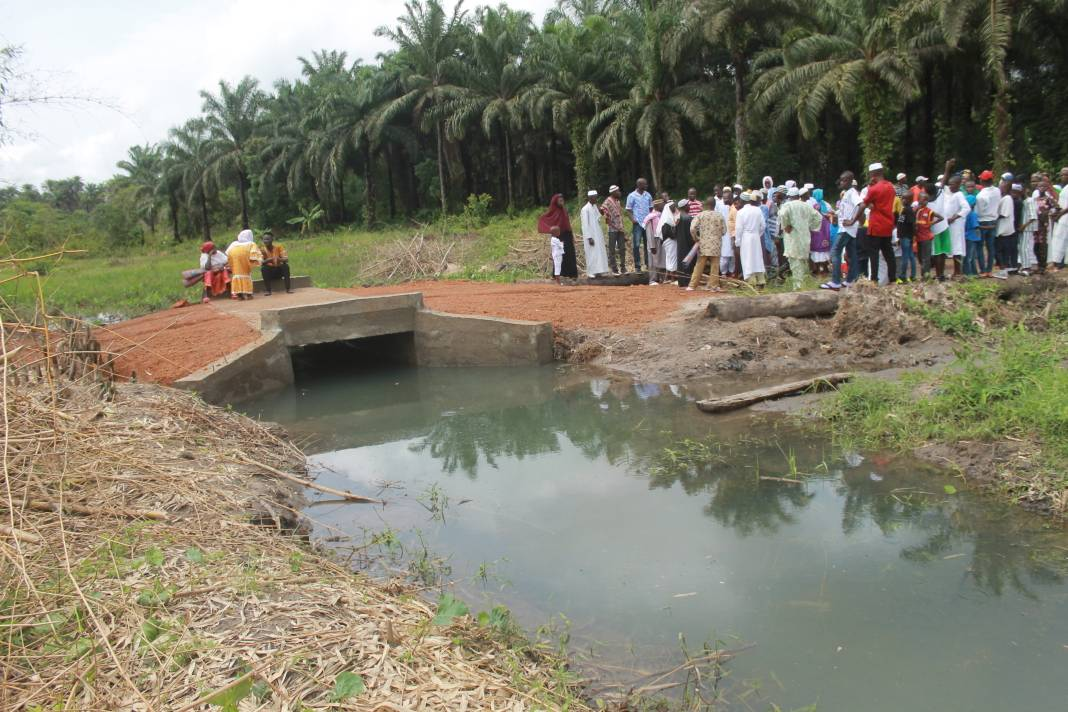 The bridge built by Project Dream and opened for use to the community on 10th June 2018