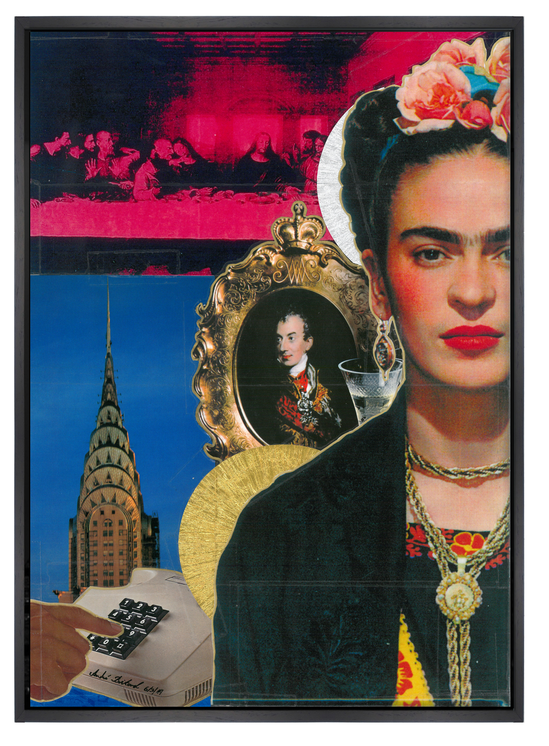Andrè Boitard  Frida Kahlo 2014  Collage  Unique Piece  42cm x 30 cm