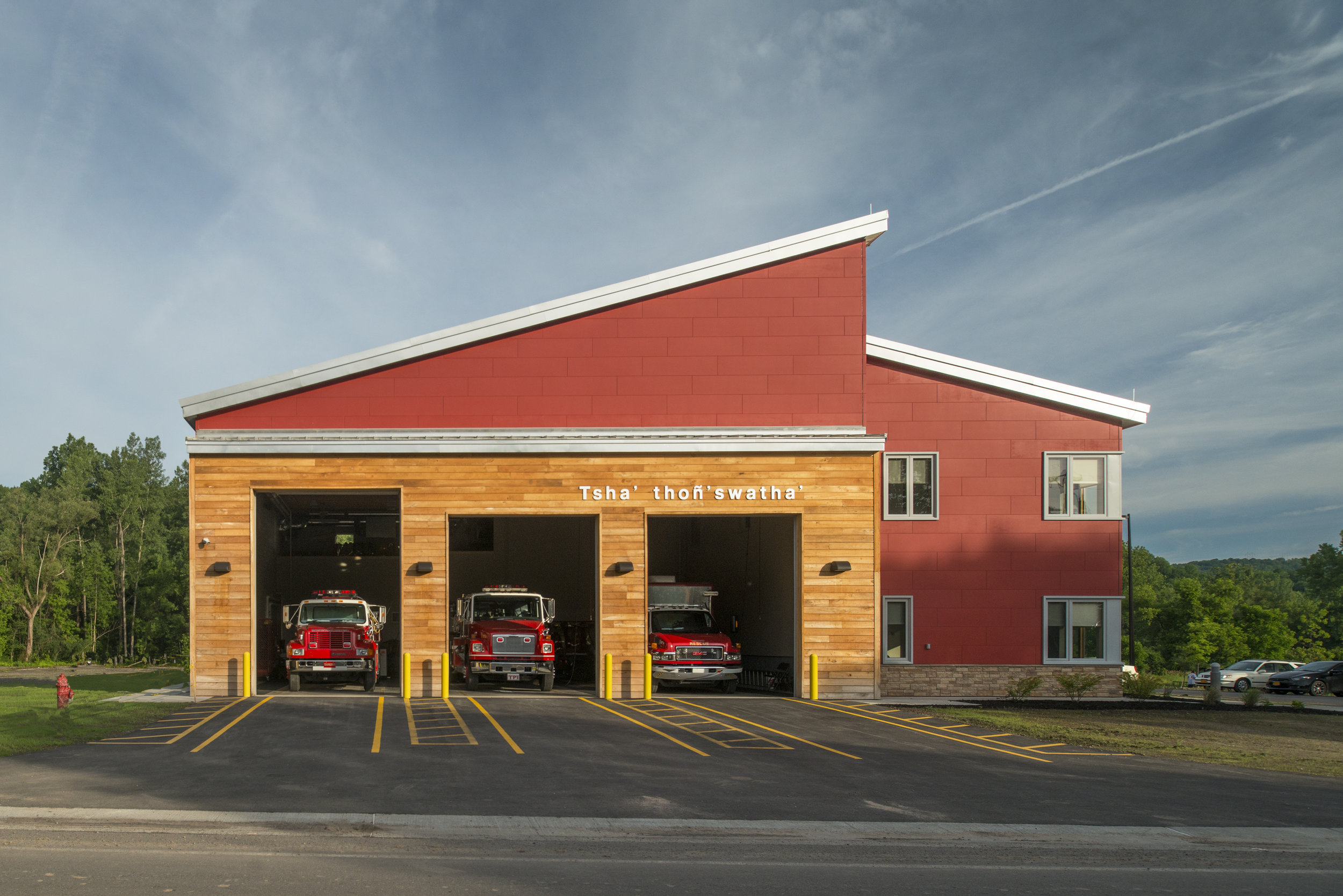 FIRE STATION<strong>The Nation's leadership looked to provide a new fire station that expresses their cultural values on sustainability.</strong>