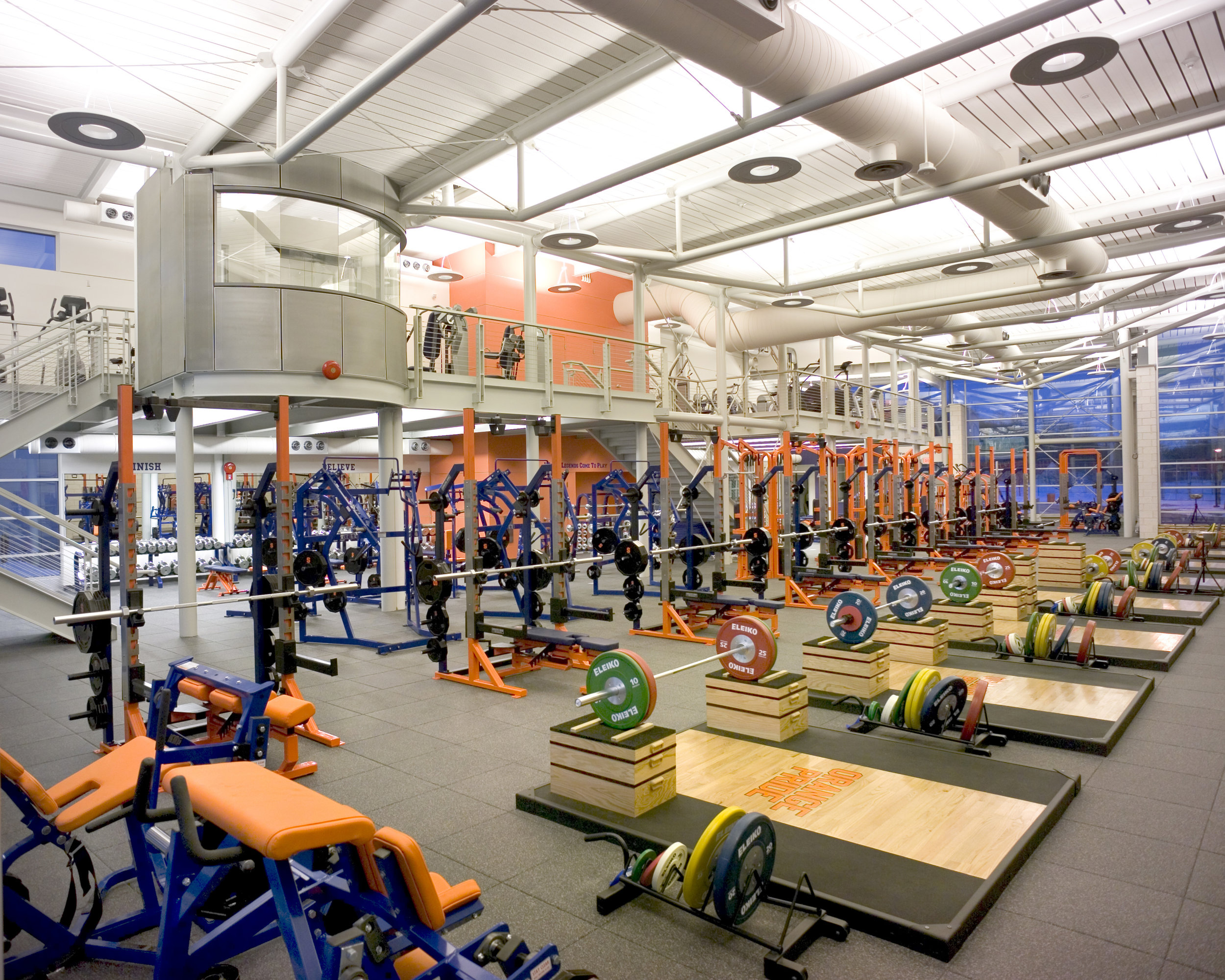 NEW STRENGTH TRAINING FACILITY<strong>The weight room is a living showcase full of life and activity at Syracuse University</strong>