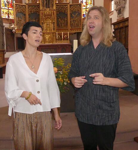 Nina Pearson and Jeffrey Palmer in St Michael's Church, Lohr am Main