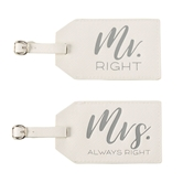 Mr & Mrs Luggage Tag Set | $24