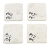 Mr & Mrs Marble Coaster Set | $24