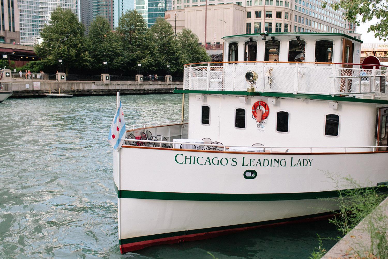 Chicago's Leading Lady Wedding Boat