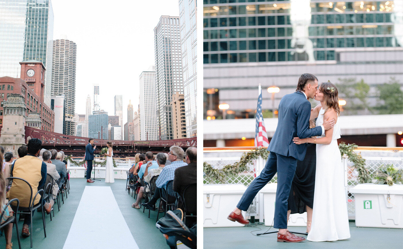 wedding-ceremony-kiss-on-chicago-boat-diptych.jpg