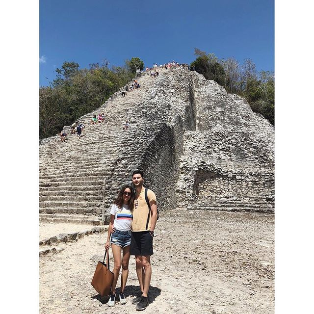 """Took a mini road trip out of Tulum and biked through the jungle to reach the Cobá Mayan Ruins, the tallest and only climbable ruins in the area. We raced to the top and scooted back down, all the while hearing an encouraging father tell his screaming daughter fearful of heights, """"Sí, tu puedes, mi amor."""" #coba #mayanruins #mexico"""