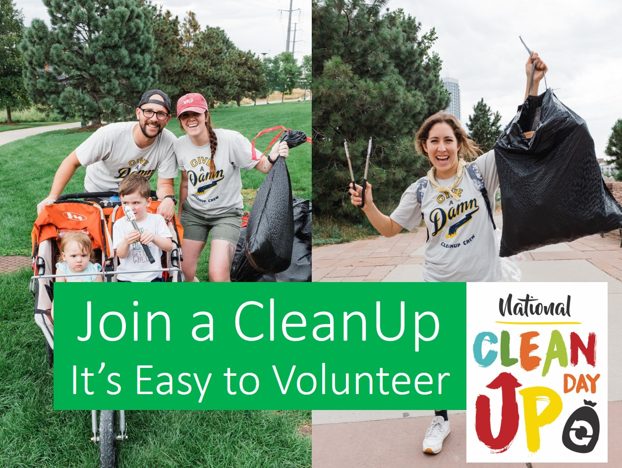 Join a CleanUp - Click here to support a local, community partner!