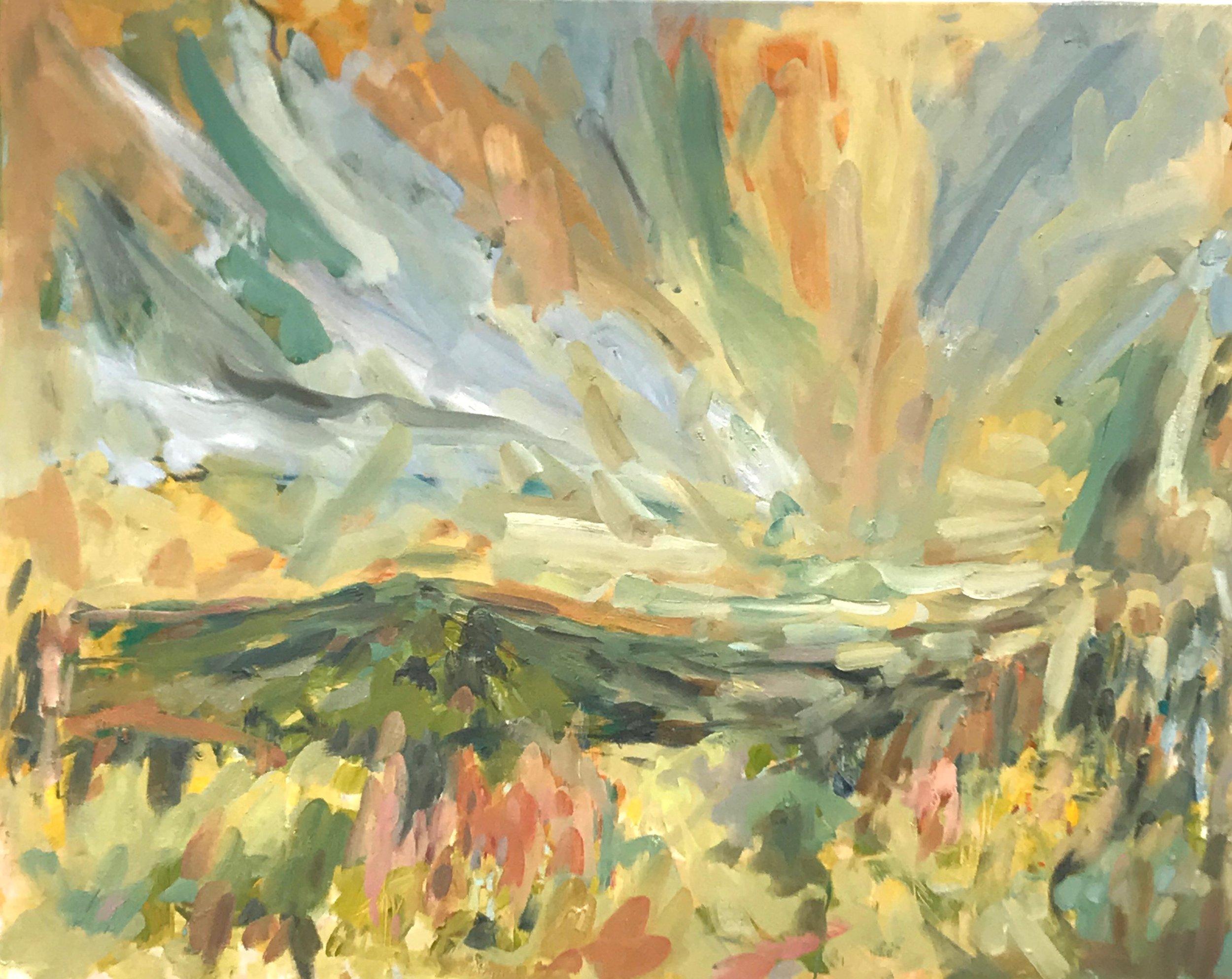 Memories of Deloraine I, 80x120cm oil on canvas
