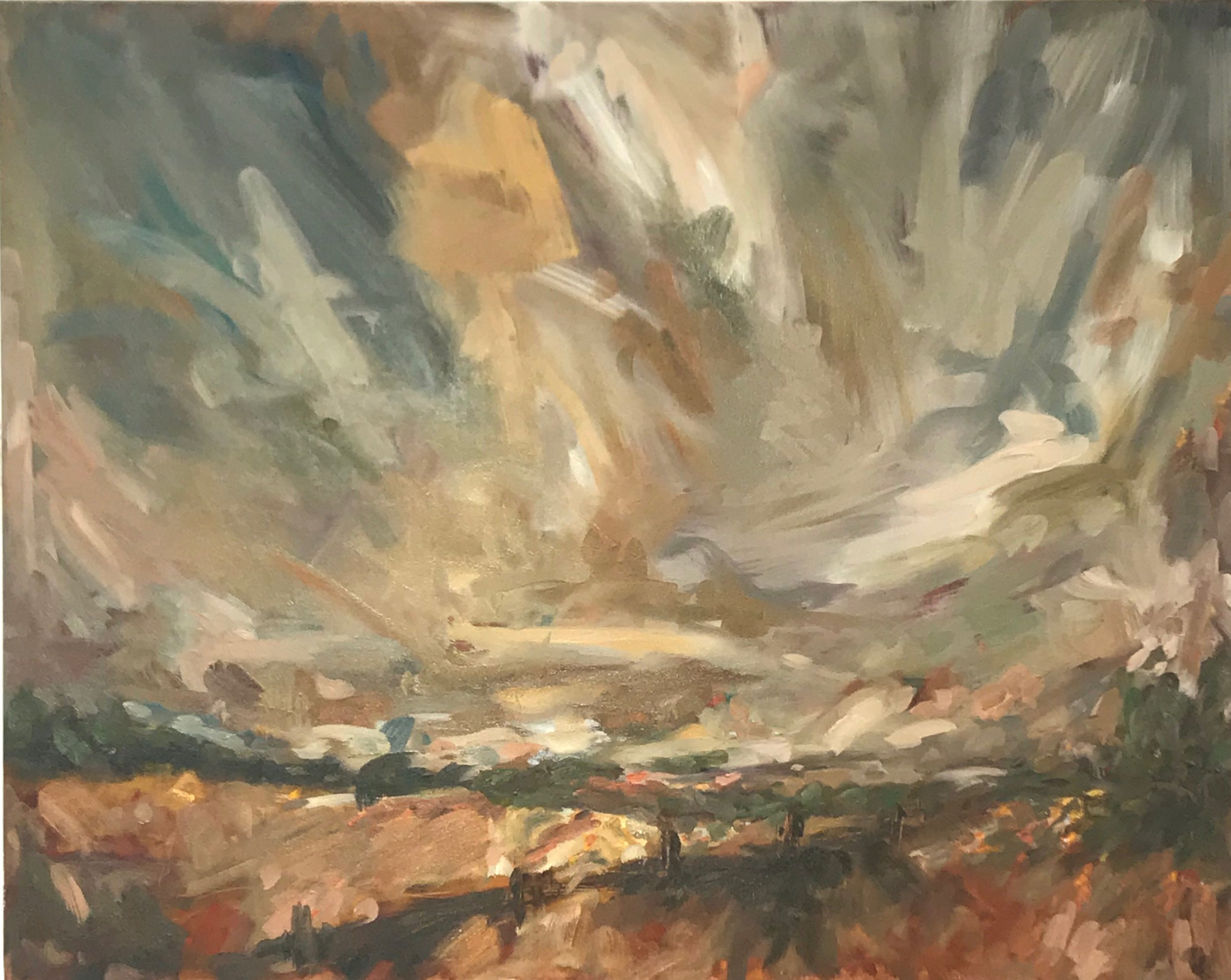 Memories of Deloraine II, 80x120cm oil on canvas