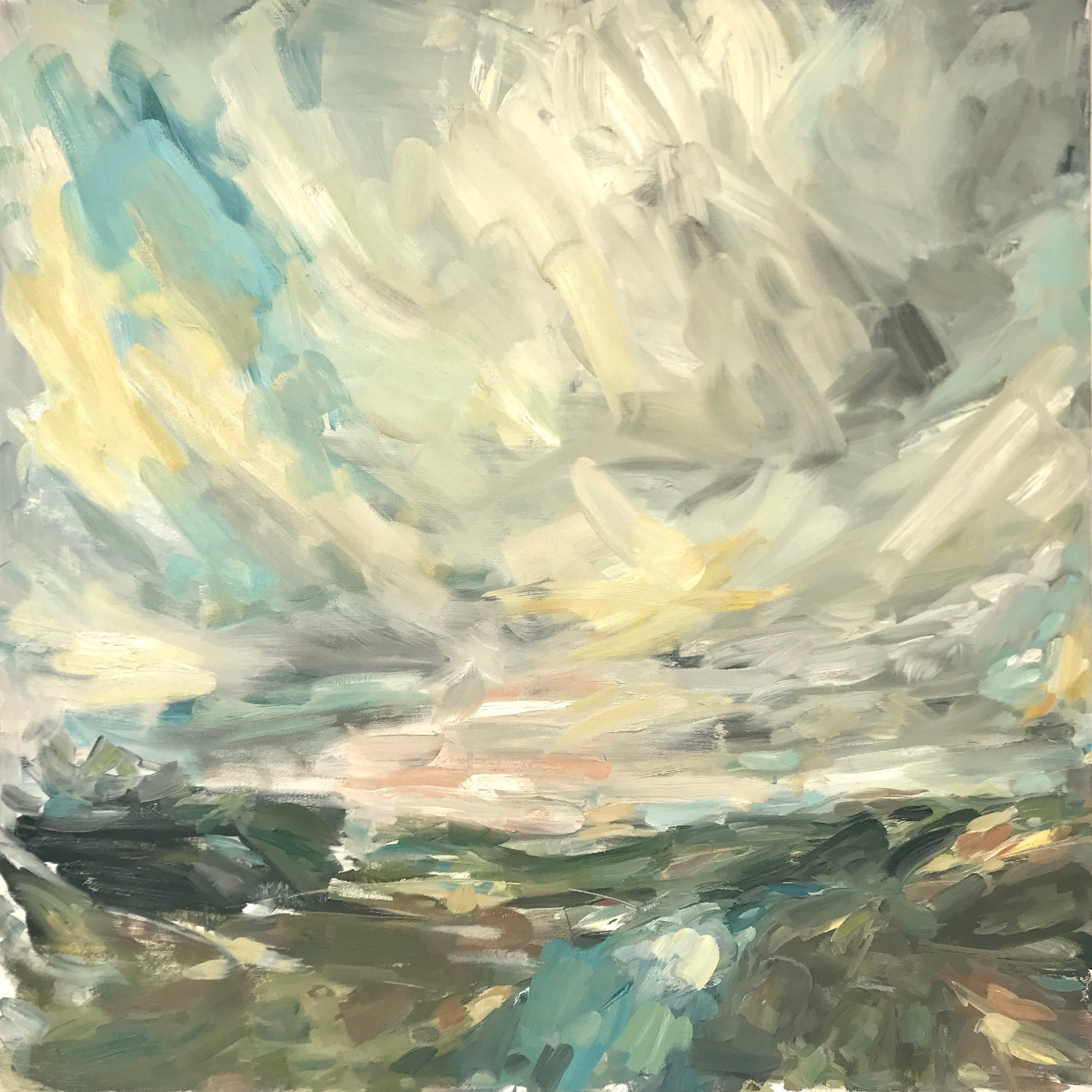 Port Eliot Light, 90x90cm oil on canvas