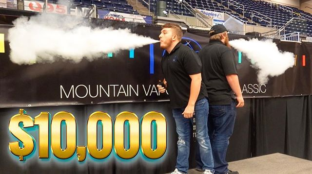 I gave $10,000 to whichever employee could blow the biggest vape cloud. Who do you think won?
