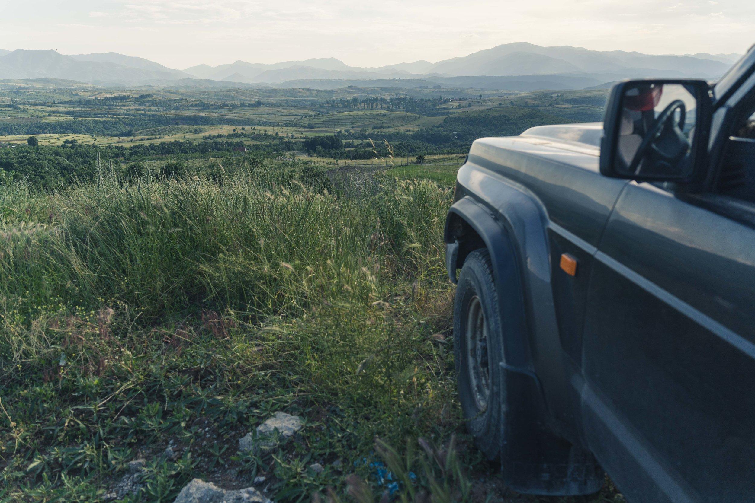 Sabine enjoying the view over Kukës County.